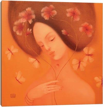 Musical Flowers Canvas Art Print