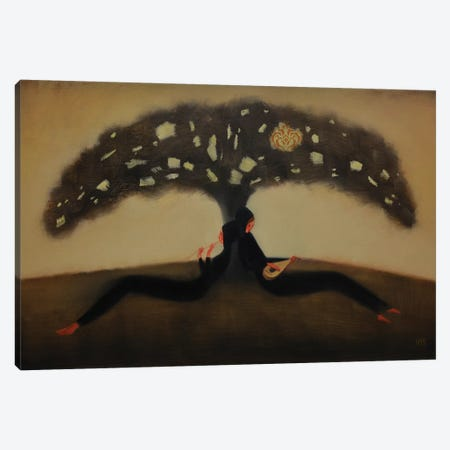 Mysterius Tree Flight Of Sound Canvas Print #EZE39} by Eduard Zentsik Canvas Art
