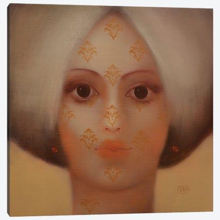 Patterns On the Face Canvas Print #EZE41} by Eduard Zentsik Art Print
