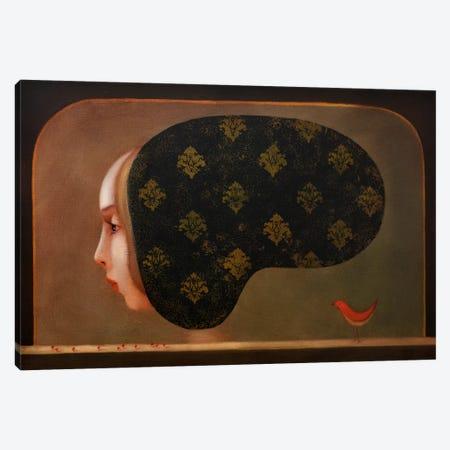 Red Bird Canvas Print #EZE45} by Eduard Zentsik Canvas Wall Art