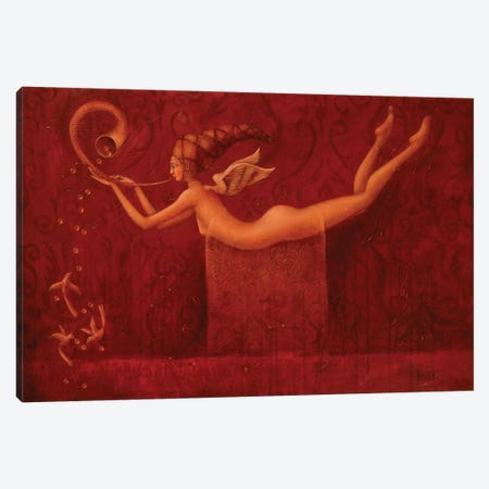 Song Of Angel Canvas Print #EZE49} by Eduard Zentsik Canvas Art Print