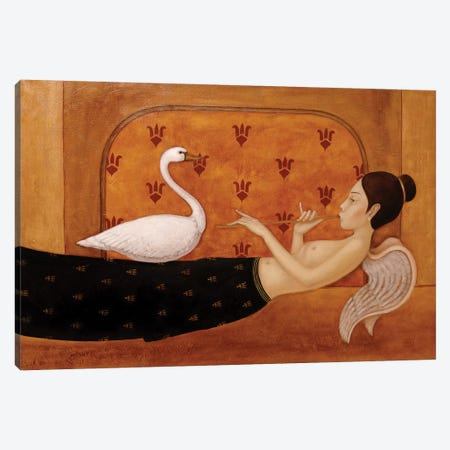 Angel Ad The Swan Canvas Print #EZE4} by Eduard Zentsik Art Print