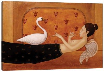 Angel Ad The Swan Canvas Art Print