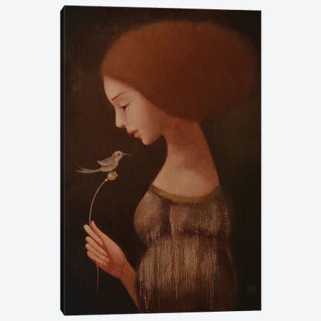 The Bird Of Happiness Canvas Print #EZE54} by Eduard Zentsik Canvas Art Print