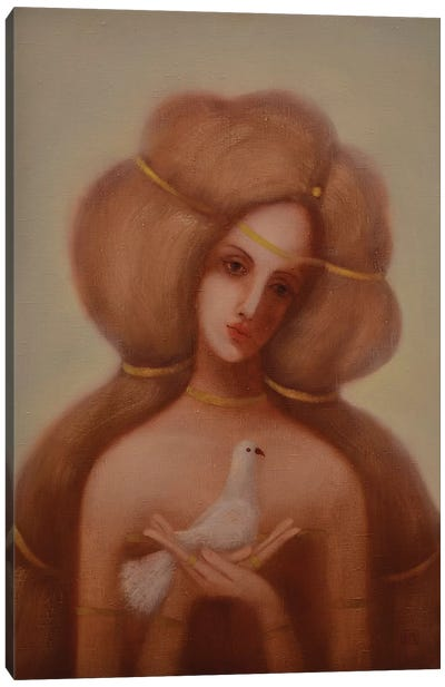 White Dove Canvas Art Print