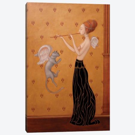 Wings Of Blu Cat Canvas Print #EZE62} by Eduard Zentsik Canvas Print