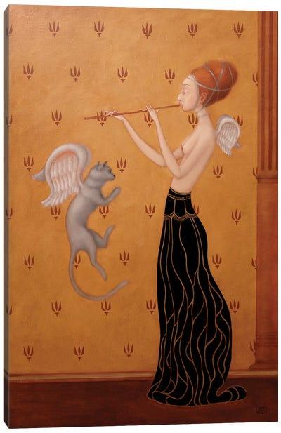 Wings Of Blu Cat Canvas Art Print