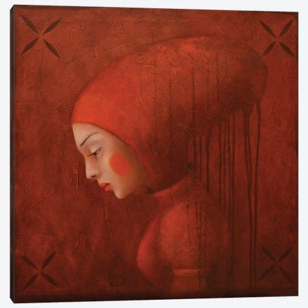 By Red Frog Canvas Print #EZE8} by Eduard Zentsik Canvas Wall Art