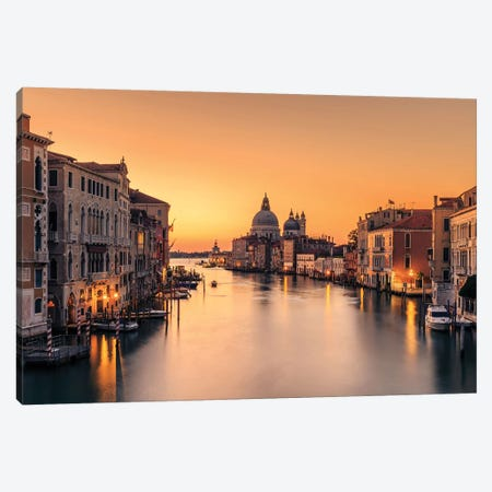 Dawn On Venice Canvas Print #EZH1} by Eric Zhang Canvas Art Print