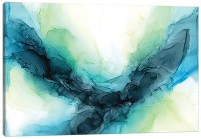 Dramatic Lime Canvas Art Print