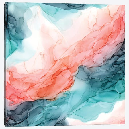 Oceanside Orange Canvas Print #EZK28} by Elizabeth Karlson Art Print