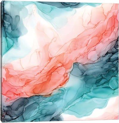 Oceanside Orange Canvas Art Print