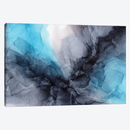Aqua Drama Canvas Print #EZK2} by Elizabeth Karlson Canvas Wall Art