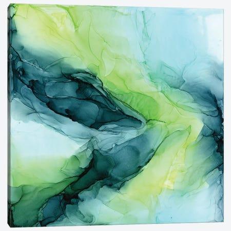 Aqua Lime Canvas Print #EZK3} by Elizabeth Karlson Canvas Wall Art