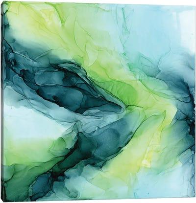 Aqua Lime Canvas Art Print