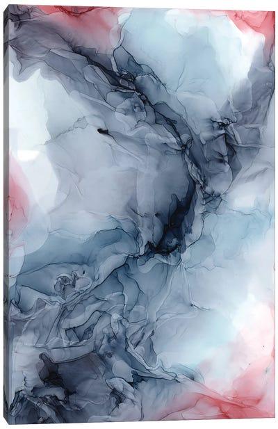 Sky Burgundy Gray Canvas Art Print