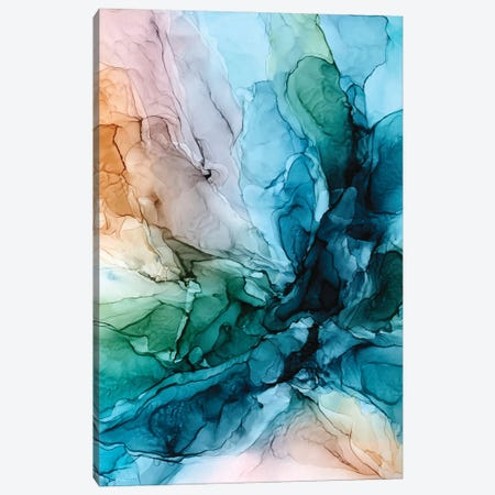 Salty Shores Canvas Print #EZK56} by Elizabeth Karlson Art Print