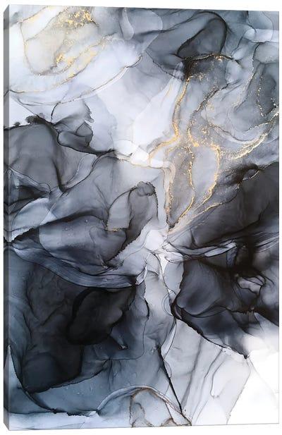 Calm But Dramatic Light Monochromatic Abstract Canvas Art Print