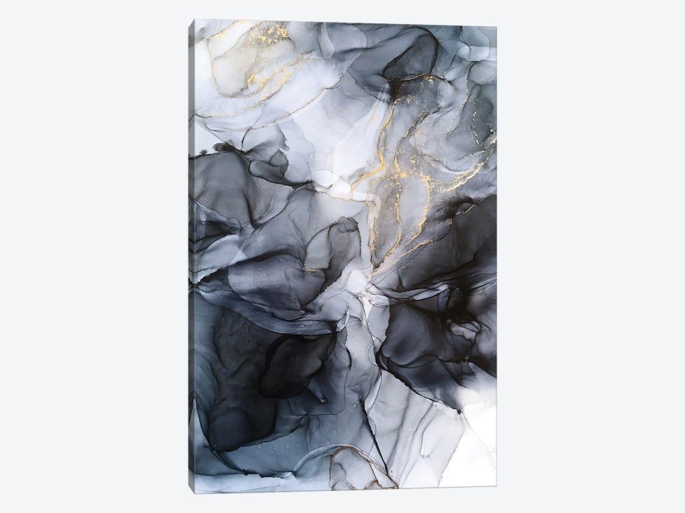 Calm But Dramatic Light Monochromatic Abstract by Elizabeth Karlson 1-piece Art Print