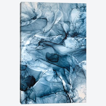 Churning Blue Ocean Waves Abstract Painting Canvas Print #EZK60} by Elizabeth Karlson Canvas Print
