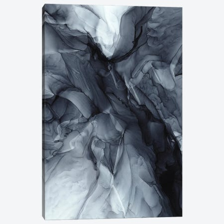 Gray Black Gradient Dramatic Flowing Abstract Canvas Print #EZK61} by Elizabeth Karlson Canvas Print