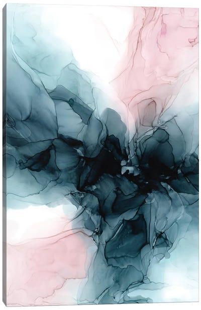 Blush & Deep Water Blue Canvas Art Print