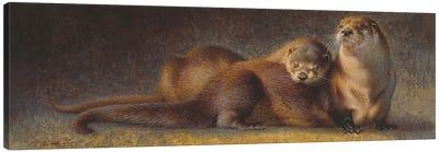 Cozy Companions Otters Canvas Art Print