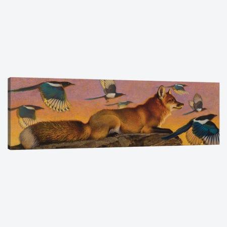 Magpie Melody Canvas Print #EZT32} by Ezra Tucker Canvas Art Print