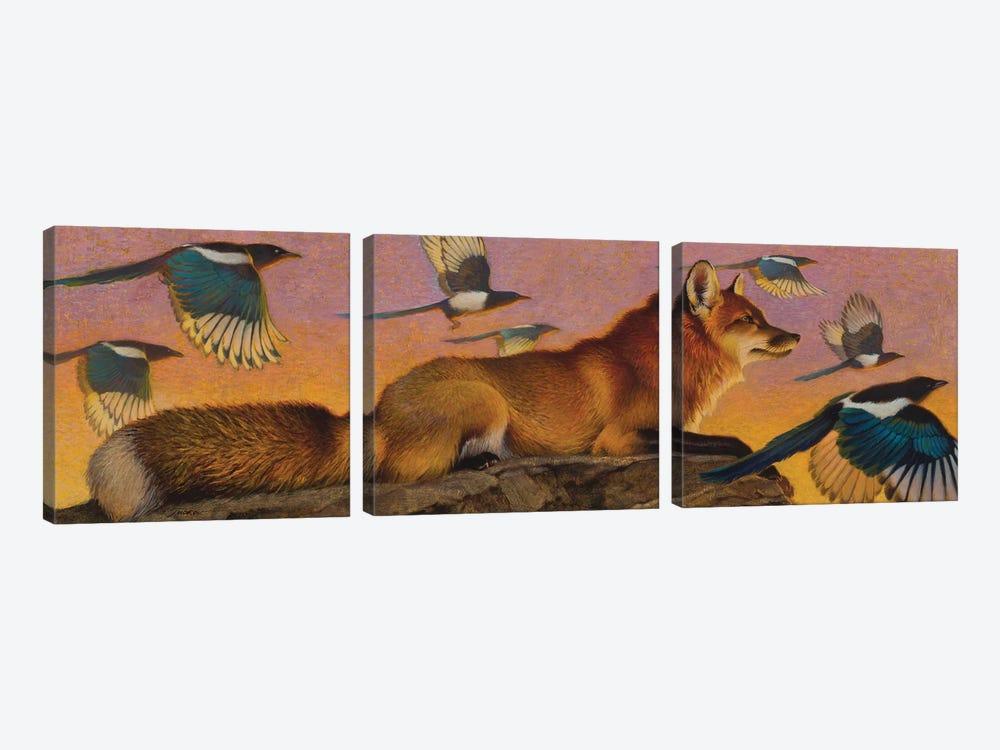Magpie Melody by Ezra Tucker 3-piece Canvas Artwork