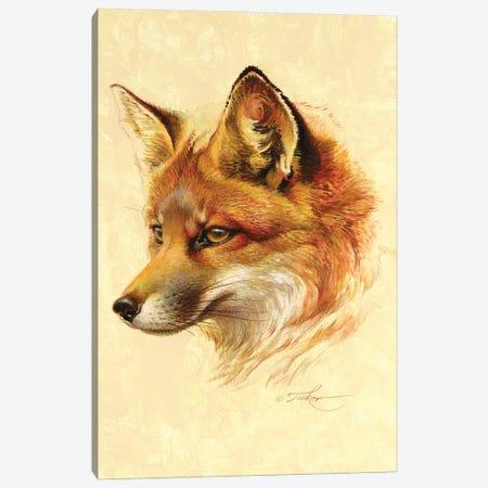 Red Fox Portrait Canvas Print #EZT91} by Ezra Tucker Canvas Art Print
