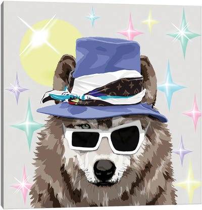 Wolf In Lv Canvas Art Print