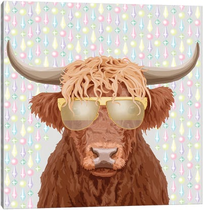 Ox In Tom Ford Glasses Canvas Art Print