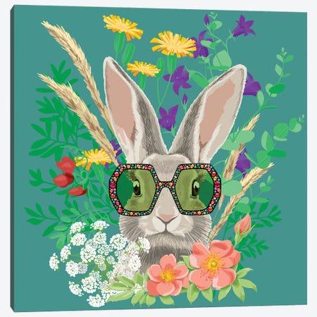Summer Bunny In Gucci Glasses Canvas Print #EZV15} by Elizaveta Molchanova Canvas Art