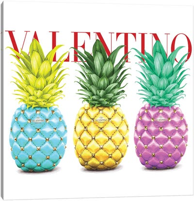 Valentino Pineapple Canvas Art Print