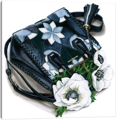 Michael Kors Bag With Anemones Canvas Art Print