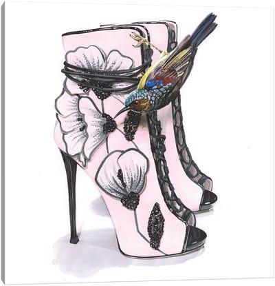 Sunbird With Zanotti Shoes Canvas Art Print