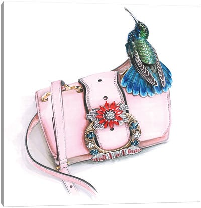 Miu Miu Bag With Hammingbird Canvas Art Print