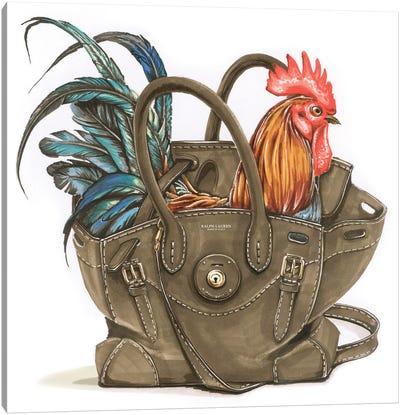 Rooster In Ralf Lauren Canvas Art Print