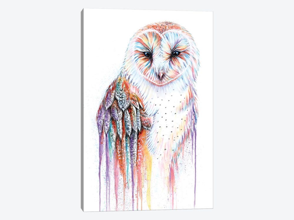 Barred Rainbow Owl by Michelle Faber 1-piece Canvas Art Print