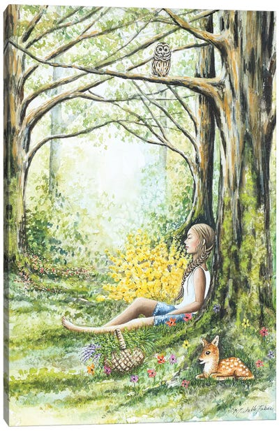 Forest Meditation Canvas Art Print