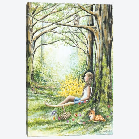 Forest Meditation Canvas Print #FAB21} by Michelle Faber Canvas Wall Art