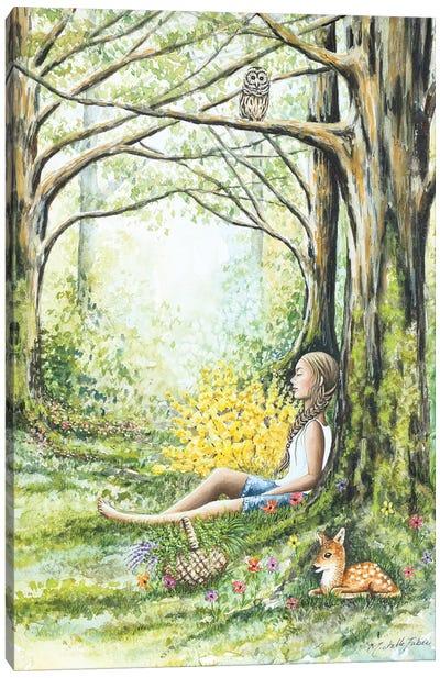 Forest Meditation Canvas Art Print
