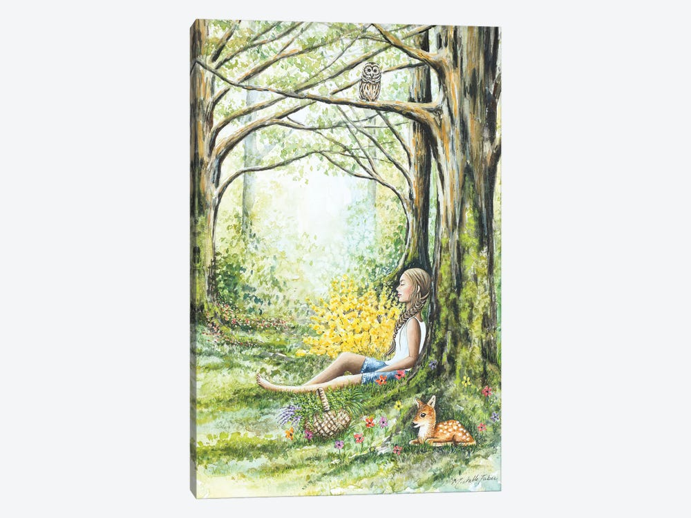 Forest Meditation by Michelle Faber 1-piece Canvas Wall Art