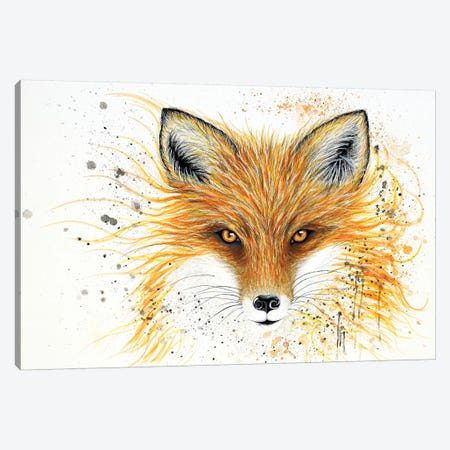 Fox Fire Canvas Print #FAB23} by Michelle Faber Canvas Wall Art