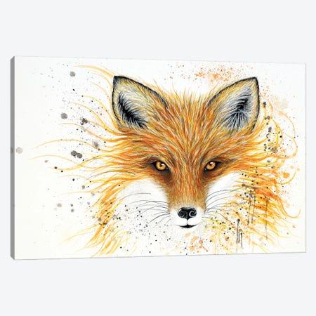 Fox Fire Canvas Print #FAB23} by Michelle Faber Canvas Wall Art