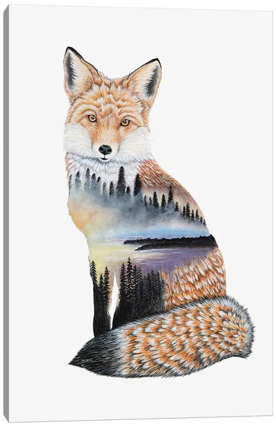 Fox Lake Landscape Canvas Art Print