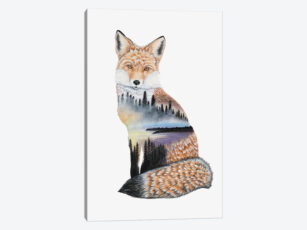 Fox Lake Landscape by Michelle Faber 1-piece Canvas Art Print