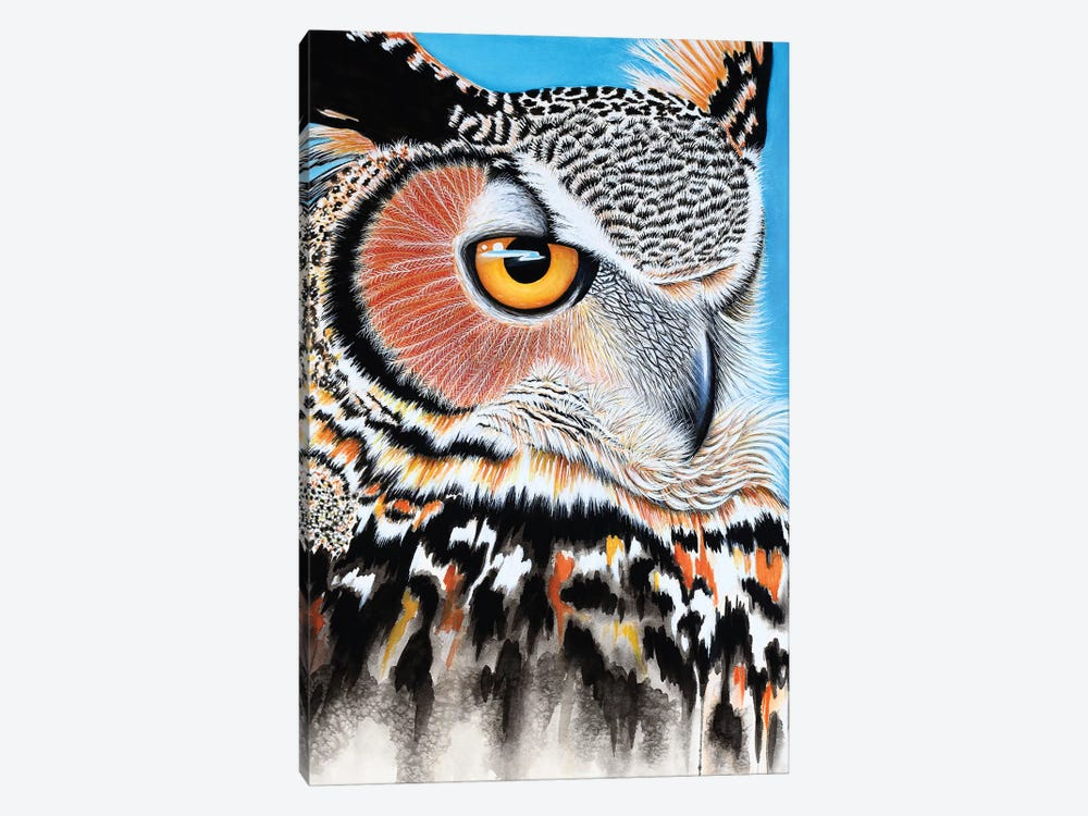 Great Horned Owl Eye by Michelle Faber 1-piece Canvas Art