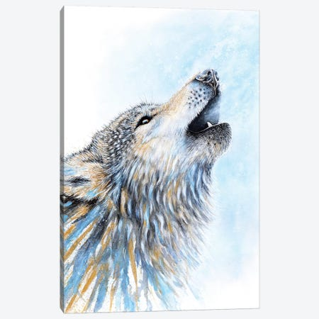 Howling Wolf Canvas Print #FAB28} by Michelle Faber Canvas Art