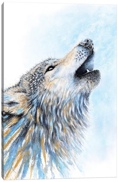 Howling Wolf Canvas Art Print